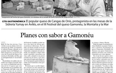 Feria del Queso Gamonéu en la Sidrería Yumay
